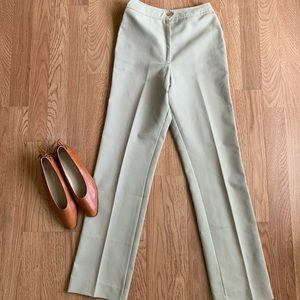 1970s Vintage High Waist Slim Leg Trousers